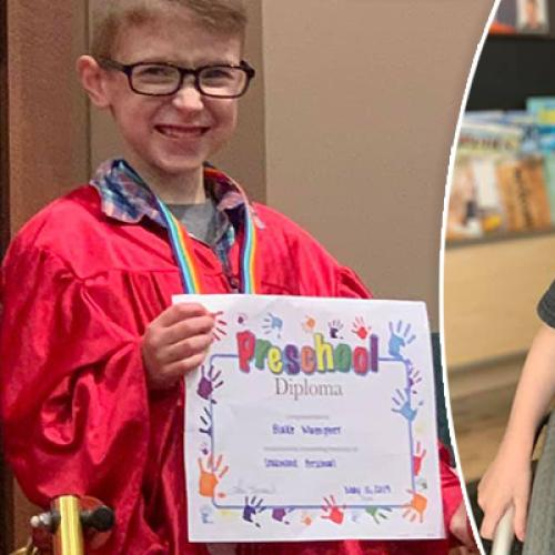 """I Did It"": Boy With Spina Bifida Walks For The First Time"