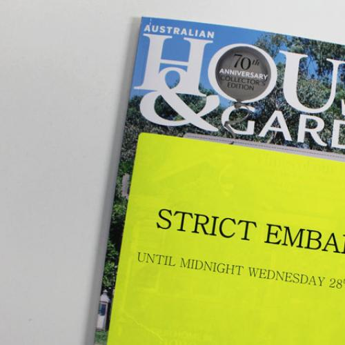 Whats With House & Garden Magazine Being Embargoed?