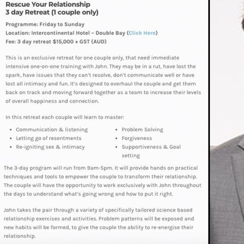 Mafs Expert John Aiken Charges $15,000 For Love Retreat