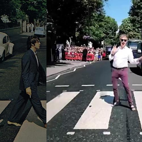 Paul McCartney Crosses Abbey Road Almost 50 Years Later