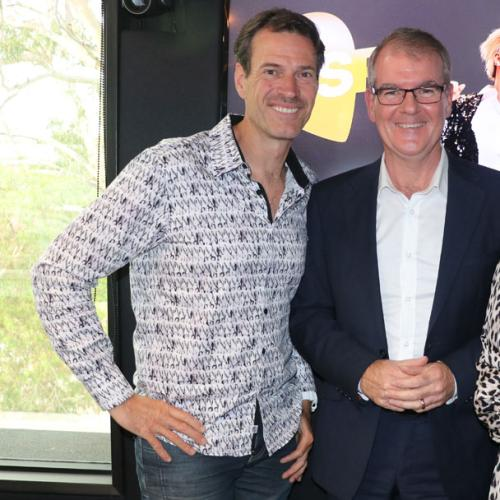 Jonesy & Amanda With Nsw Opposition Leader Michael Daley