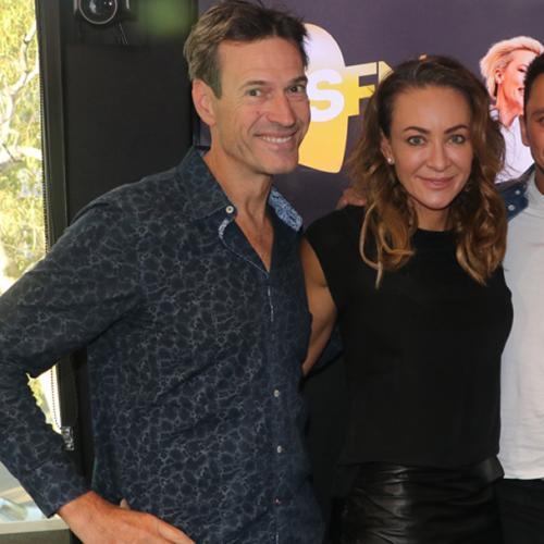 Jonesy & Amanda With Dwts Celeb Michelle Bridges