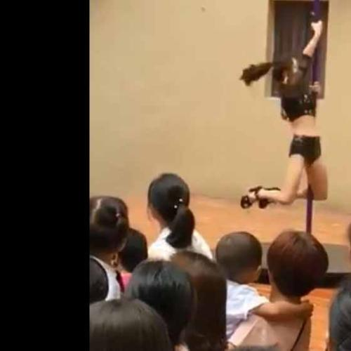 Kindergarten In China Welcomes Back Kids With Pole Dancer