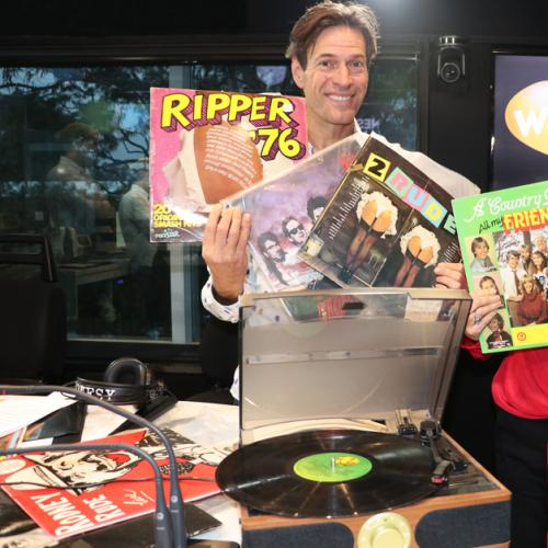 Jonesy & Amanda Had To Play Vinyl Records In The Studio