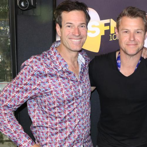 Jonesy & Amanda With Doctor Doctor Star Rodger Corser