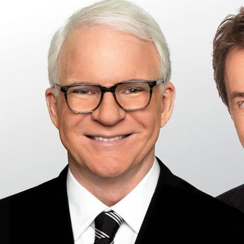 Steve Martin And Martin Short With Jonesy & Amanda