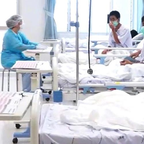 Video Footage Emerges Of Thai Boys Recovering In Hospital
