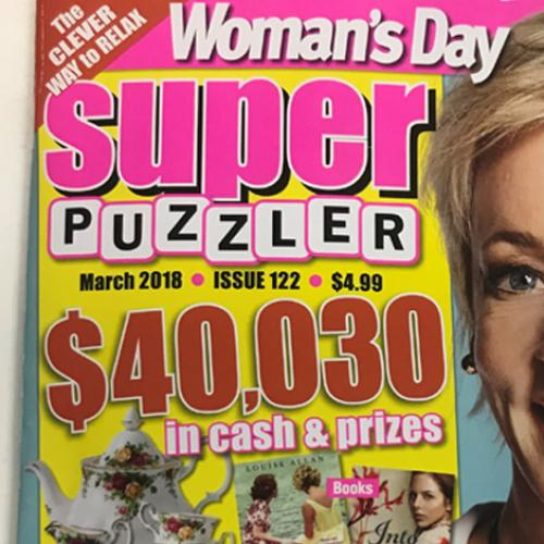 Amanda Hits The Big Time On The Cover Of Super Puzzler Mag!