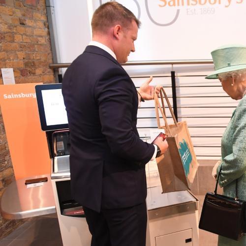 Queen Left Baffled When Shown Self-Service Machines