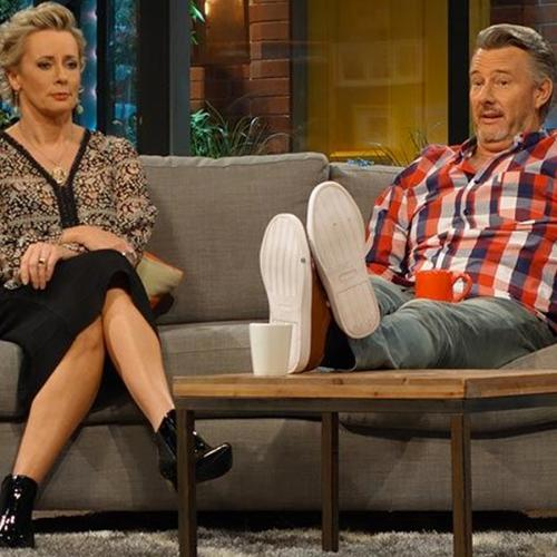 Amanda Keller And Barry Du Bois Electrocute Each Other On 'The Living Room'