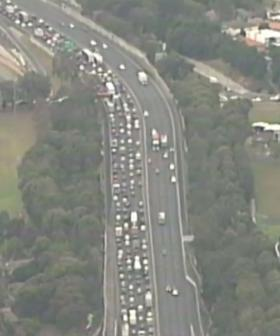 Truck And Motorbike Crash Causes Traffic Chaos On Sydney's M4