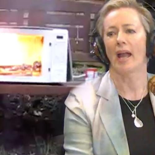 How Did Amanda Keller Make The Office Microwave Explode?