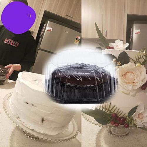 Aussie Bride Makes Amazing Wedding Cake Using $4 Woolies Cakes
