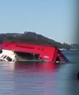 Sewage Truck Still Underwater In Sydney's Northern Beaches