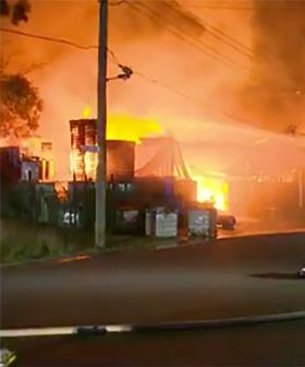Toxic Smoke Covers Western Sydney Following Factory Fire In Yennora