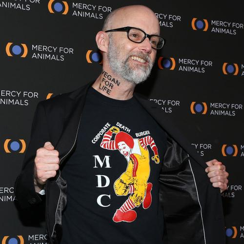 "Moby Gets ""Vegan For Life"" Tattooed On His Neck"