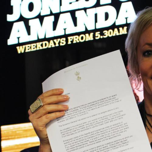Amanda's Been Honoured With An Order Of Australia!