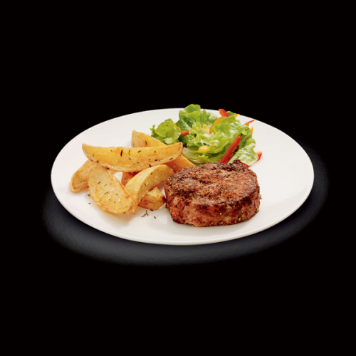 Cajun Spiced Pork Steak With Wedges