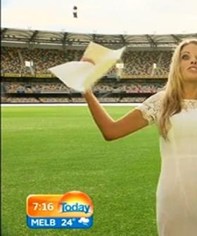 Erin Molan Got Drenched By A Sprinkler At The Cricket