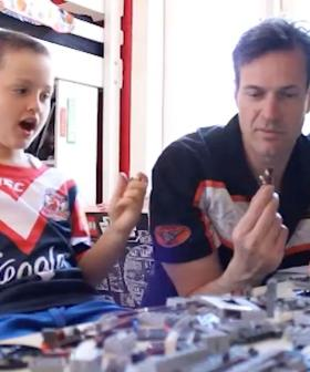 Remember That Time Jonesy Tried To Build LEGO With Amanda Keller's Son?