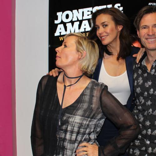 Megan Gale Strikes A Pose With Jonesy & Amanda