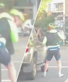 Cyclist Attempts To Hit Driver With Bicycle In Road Rage Incident