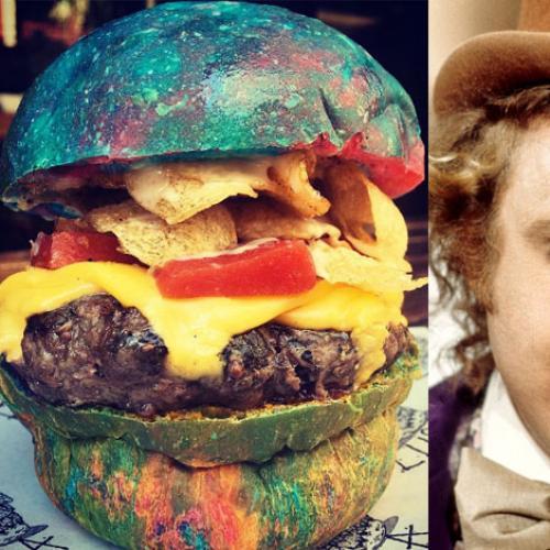 Sydney Bar Creates Multicoloured Willy Wonka Inspired Burger