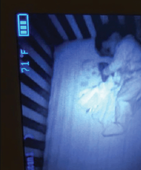Mum Terrified After Baby Monitor Films 'Ghost Baby' Smiling In Her Son's Cot