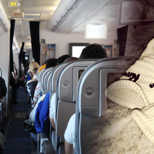 Disgusting Passenger Caught Airing His Dirty Socks On Plane Window