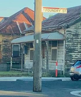 Roadworks Leave Power Pole In The Middle Of NSW Street