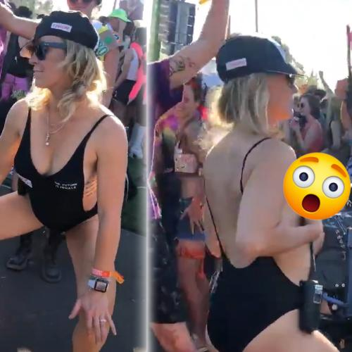 Woman Sprays Her Breast Milk At A Music Festival
