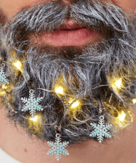 You Can Now Buy Christmas Lights For Your Beard