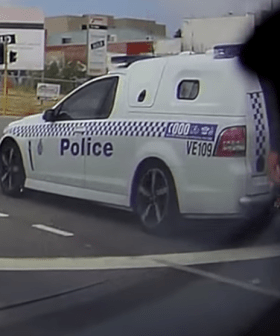 Aussie Man Appears To Escape From Back Of Police Paddy Wagon On Aussie Freeway