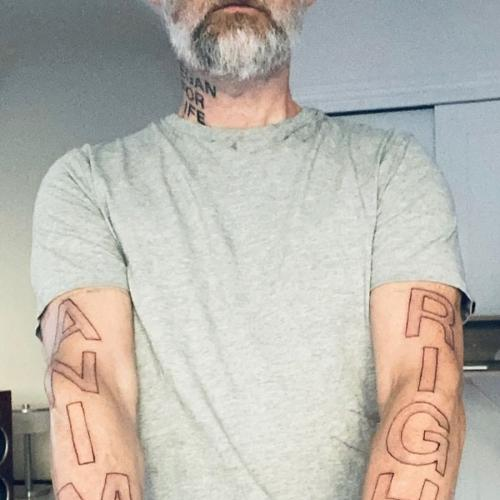 Moby Unveils New 'Animal Rights' Tattoo To Mark His 'Vegan Anniversary'