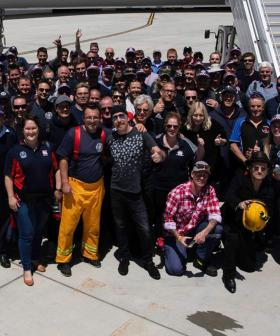 U2 Delays Flight To Stop And Personally Thank Aussie Firefighters