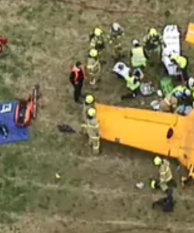 Plane Flips At Melbourne Airport
