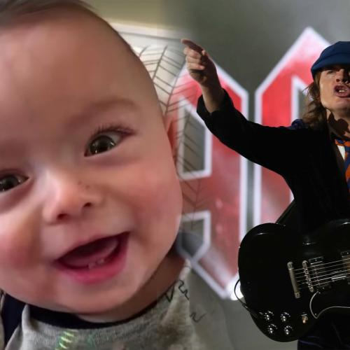 This Baby's Cover Of AC/DC's Thunderstruck Has To Be Seen To Be Believed