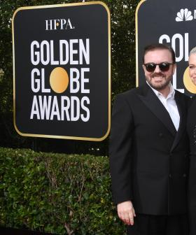 http://Ricky%20Gervais%20(L)%20and%20Jane%20Fallon%20attend%20the%2077th%20Annual%20Golden%20Globe%20Awards%20at%20The%20Beverly%20Hilton%20Hotel%20on%20January%2005,%202020%20in%20Beverly%20Hills,%20California.%20(Photo%20by%20Jon%20Kopaloff/Getty%20Images)