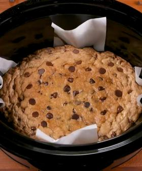 You Can Make A Giant Deep Dish Cookie In Your Slow Cooker
