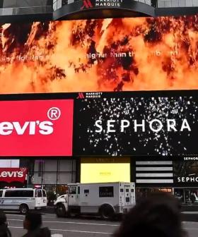 The Biggest Electronic Billboard In America Lights Up New York City To Thank Firefighters