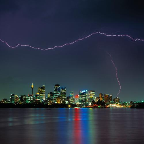 Another Week Of Torrential Rainfall After Sydney Saw Over 10,000 Lighting Bolts Monday Night