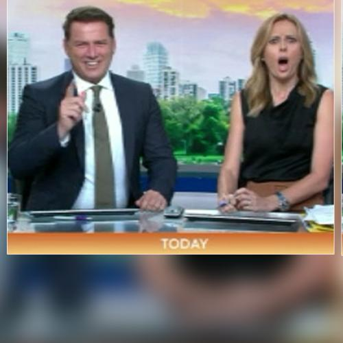 Watch Today's Karl Stefanovic And Allison Langdon Try To Hold It Together This Morning