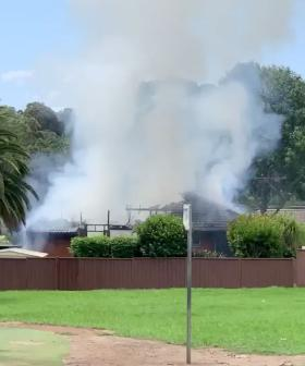Fire Destroys Home Next To Primary School In Sydney's North West