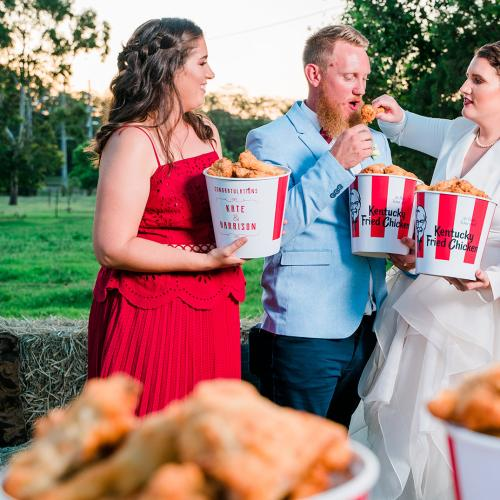 Aussie Couple Hold A KFC-Themed Wedding