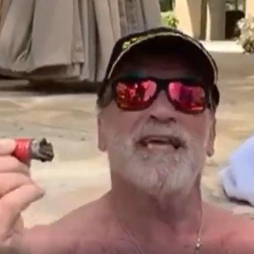 Arnold Schwarzenegger Continues To Produce THE BEST Quarantine Content (From His Hot Tub)