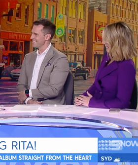 David Campbell And Tracy Grimshaw In QuarantineAfter Rita Wilson Visited The Channel Nine Studios