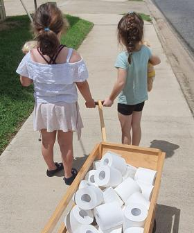 Little Girls Use Their Tooth Fairy Money To Buy Toilet Paper And Deliver It To The Elderly