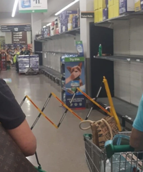 Woolworths Staff Protect Themselves With Barricades As The Hunt For Toilet Paper Continues