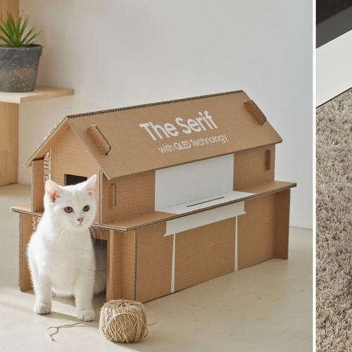 Samsung Has Redesigned Its TV Boxes So They Can Be Rebuilt Into A House For Your Cat!