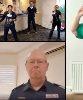 Kath & Kim's Sharon Strzelecki Hosted A Dance Party With Aussie Healthcare Workers!